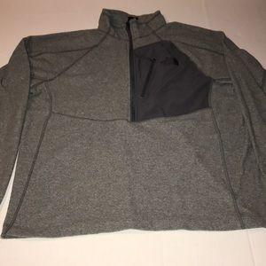 North Face Sz L Men Pullover Gray Fleece Flash Dry